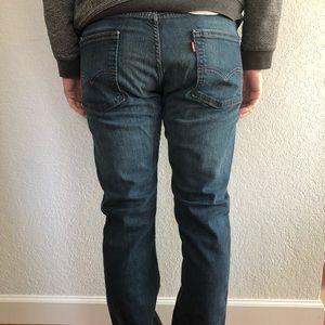 Men's Denim Levi's 513 slim straight 33/32 Jeans